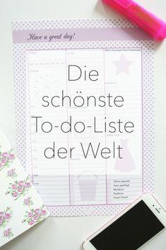 Printable-Friday: Die schönste To-do-Liste der Welt - Rosanisiert