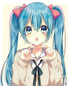 Hatsune Miku shared by Susy Helena on We Heart It Anime Chibi, Manga Anime, Anime Art, Anime Girl Cute, Beautiful Anime Girl, Kawaii Anime Girl, Anime Girls, Manga Girl, Vocaloid
