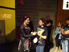 CHARLOTTE and fans after the Within Temptation/Delain concert in Antwerpen 29-4-2014