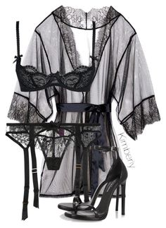 """Untitled #1972"" by whokd ❤ liked on Polyvore featuring L'Agent By Agent Provocateur and Yves Saint Laurent"