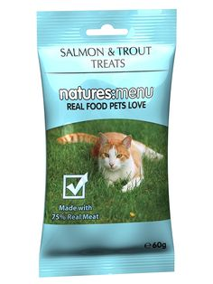 Natures Menu Cat Treats Salmon And Trout 65 G (Pack Of 12) -- Details can be found by clicking on the image.