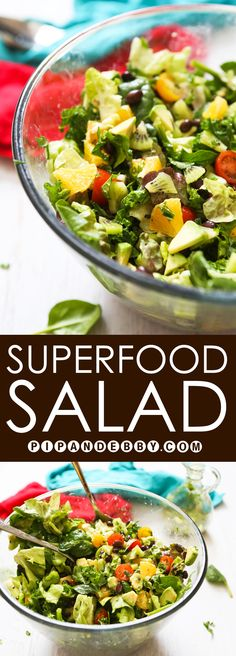 Superfood Salad | This salad is nutrient-dense AND delicious! It is the perfect salad and does not lack flavor. You have just found your new favorite salad!