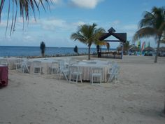 Setting up for a destination wedding at Secrets Resorts in Jamaica