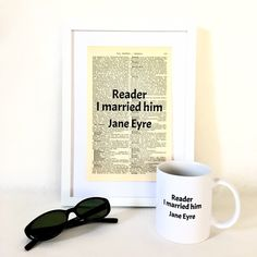 Updates from Exlibrisstudio on Etsy Gifts For Bookworms, Literary Gifts, Jane Eyre, Book Lovers Gifts, Ex Libris, Book Pages, Quote Prints, Book Quotes, Book Worms