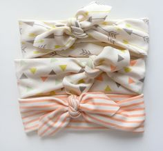 Baby Girl Headbands by Little Hip Squeaks, The Esme Collection, Set Of 3, via Etsy.