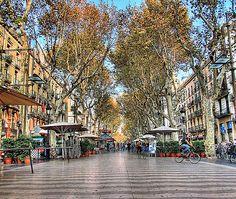 La Rambla, Barcelona  Been here - need to take the girls.