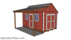 10 16 Shed With Side Porch Plans With Images Shed With Porch