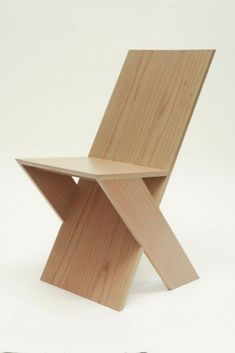 Special design wooden chair from the factory of the Home Dekor. It is simple but modern and very useful for luxury houses. for more visit us @ Plywood Furniture, Cool Furniture, Furniture Design, Plywood Chair, Futuristic Furniture, Furniture Plans, Plywood Floors, Furniture Dolly, Furniture Removal
