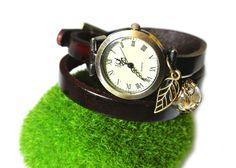 WickelUhr *ArmbandUhr*Leder Wünsch dir was von Fleur Noire-Schmuckdesign by Polarkind auf DaWanda.com Für 32,90 €