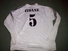 2004 2005 Real Madrid Zidane #5  Long Sleeved Home Football Shirt Adults XXL Camiseta France Spain