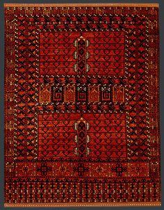 Afghan Ersari Rug at Emmett Eiland's Oriental Rugs Afghan Rugs, Prayer Rug, Oriental Rugs, Central Asia, Tribal Rug, Rugs On Carpet, Iran, Primary Colors, Bohemian Rug