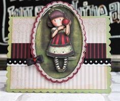 Handmade Santoro Mini Card #gorjuss