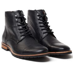 Cap Toe Boot Men's Black, $129, now featured on Fab.
