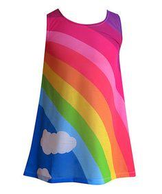 Rainbow Shift Dress - Toddler & Girls