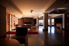 Interiors.  Lobby, Baker House, Massachusetts Institute of technology, 1946-1949; Boston, Massachusetts; Alvar Aalto.