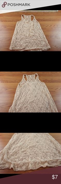 ⭐️lacy⭐️top Lacy beige top. See through Xhilaration Tops Tank Tops