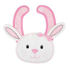 Koala Kids Girls' Pink/White Easter Bunny Bib from BabiesRUs on Catalog Spree, my personal digital mall.