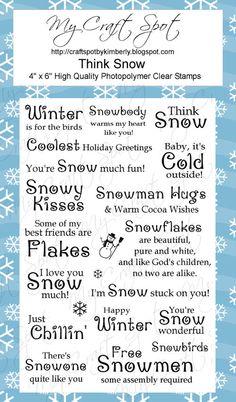 Think Snow stamp set