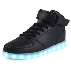 new styles e85df 7078f SGoodshoes High Top USB aufladen LED Schuhe blinken Sneakers für Kinder  Jungen Mädchen, Schwarz ( Partner-Link)