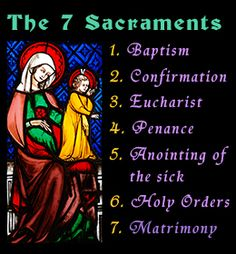 The Seven Sacraments of the Catholic Church and Their Meanings Seven Sacraments, Catholic Sacraments, Catholic Beliefs, Catholic Quotes, Catholic Prayers, Catholic Rituals, Christianity, Roman Catholic, Catholic Saints