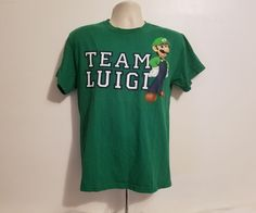 Mario Bros Team Luigi Adult Medium Green TShirt #Delta #GraphicTee