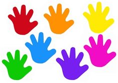 Free Colorful Kids Hands by Kelly Leighton on TpT. This product is a page with cute, colourful kids hand shapes that can be used in a multitude of ways to decorate things! Whether it be a bulletin b...