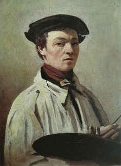 Self Portrait via Camille Corot Size: 25x33 cm Medium: oil, canvas