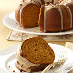 Pumpkin Spice Cake with Maple Glaze Recipe from Taste of Home