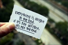 """Everything is alright in the end..."" from The Best Exotic Marigold Hotel"