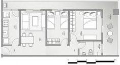 como decorar apartamento com planta estreita e comprida - Pesquisa Google