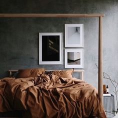 How gorgeous is this bedroom styled by for 📷 👌🏻 Good night all ✨ Beautiful Bedroom Designs, Beautiful Bedrooms, Beautiful Interiors, Small Room Bedroom, Small Rooms, Bedroom Decor, Scandinavian Style Bedroom, Scandinavian Home, Good Night All