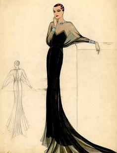 1930s Fashion, Art Deco Fashion, Retro Fashion, Fashion Design, French Fashion, Korean Fashion, Girl Fashion, Fashion Tips, Illustration Mode