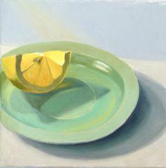 Oil painting of a lemon karen o'neil?