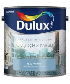 Dulux Travels in Colour Paint - Teal Facade.