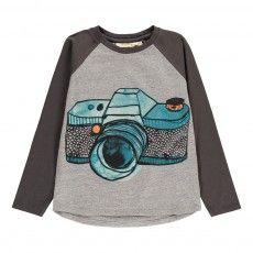 T-Shirt Appareil Photo Viggo Gris chiné