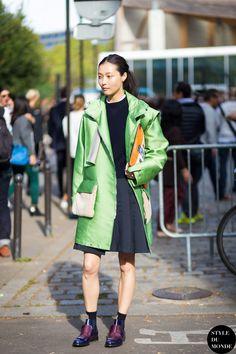 Sunghee Kim Street Style Street Fashion Streetsnaps by STYLEDUMONDE Street Style Fashion Blog