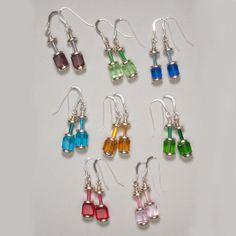 Crystal Rainbow Sterling Silver Earrings in 10 by ZDesignsJewelry, $17.00