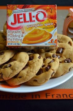 chocolate chips, chip pud, chocol chip, pumpkin spice, pud cooki, cookie recipes, dessert
