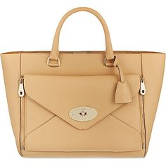 87aa1040d9d818 MULBERRY Willow silky calf leather tote (Wheat
