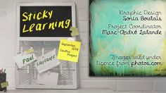 Sticky learning is learning that lasts. How can we make sure that the learning that happens in school (or should happen) finds that wonderful sticky quality? Flip Learn, Donia, Professional Development, Learning, Projects, Videos, Youtube, Log Projects, Study