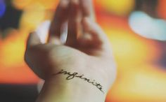 "When I get inked, this is what I want. Still thinking if it's just ""infinite"" or ""I feel infinite"" (from The Perks of Being a Wallflower)."
