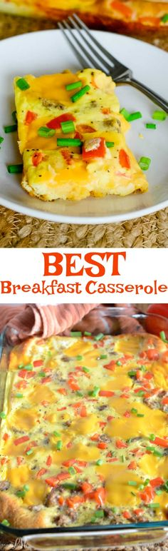 I really do think this is The Best Breakfast Casserole Recipe. It's simple, easy and quick. It's also full of flavor and is very filling.