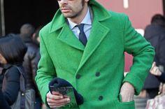 I need a green peacoat! Light Blue Dress Shirt, Light Blue Dresses, Sharp Dressed Man, Well Dressed Men, Blue Oxford Shirt, Men Looks, Double Breasted, Men Dress, Mens Fashion