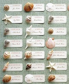 Great idea for place cards for a Cape wedding.