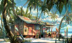 Winter Escape / Coco\'s Paradise Inn by Tuomas Korpi   2D   CGSociety