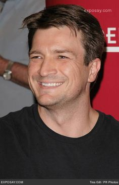 Catching up with Castle.  That smile just slays me........sigh;o))  (Nathan Fillion)
