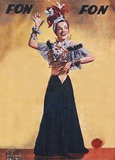Carmen Miranda, named brazilan bombshell in 40's
