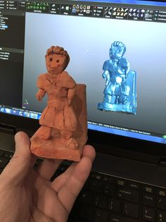 High detail scanning of clay figurines created by schoolchildren for the British Ceramics Biennial Lock Logo, Clay Figurine, Clay Sculptures, Chinchilla, Zbrush, 3d Printing, Ceramics, Statue, Create