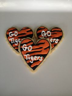Clemson Tiger Cookies Tiger Cookies, Fort Gibson, Cookie Decorating, Decorating Ideas, Football Banquet, Little Chef, Clemson Tigers, Cut Out Cookies, Cookie Designs
