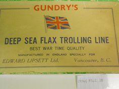 Gundry's deep sea flax trolling line box.  BRPMG 8342.38